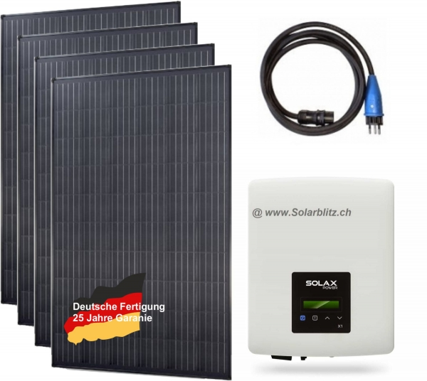 1300W (600W) Plug&Play Solaranlage legal! Module aus deutscher Fertigung